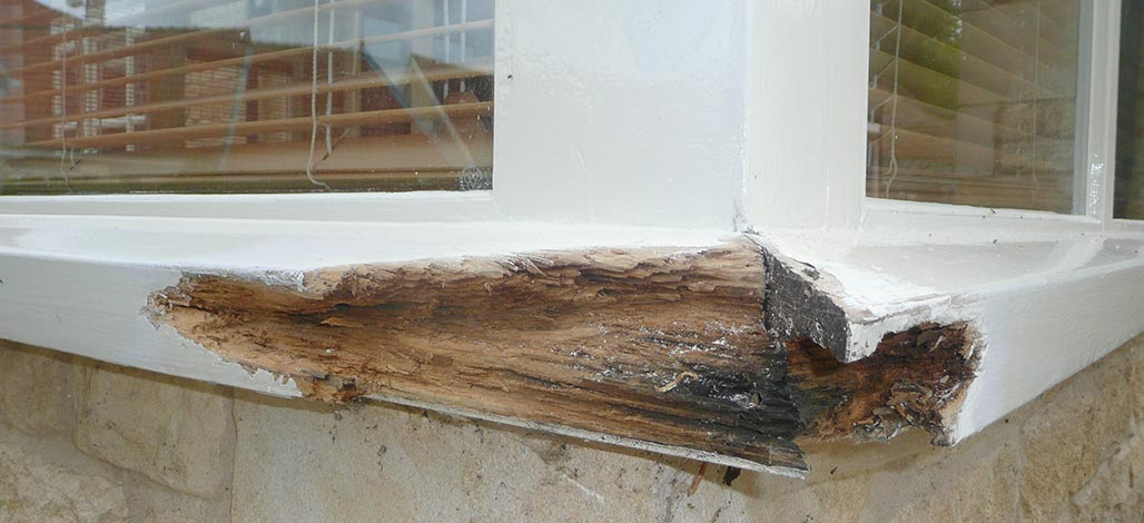 Window frame repair - before